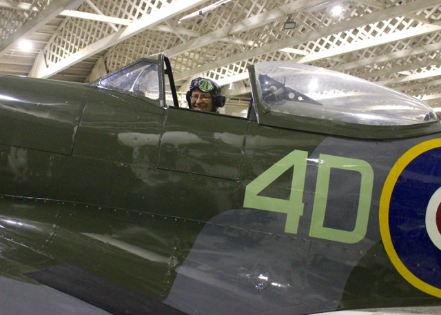 me in the spitfire