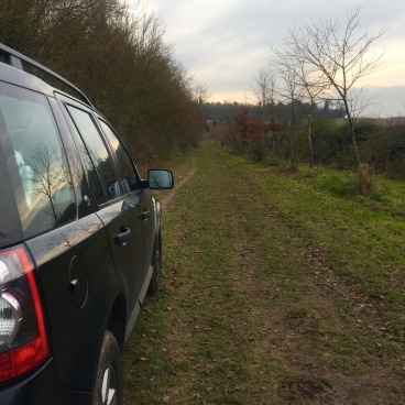 Freelander on a byway