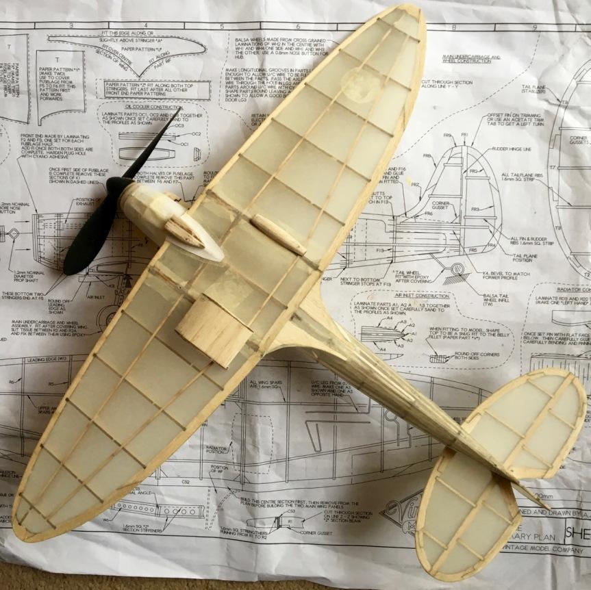spitfire model - underneath