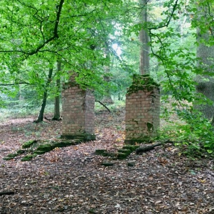 Remains of WW2 military camp